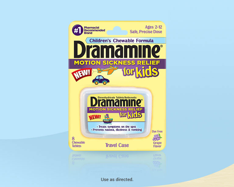 Dramamine® For Kids Motion Sickness Medicine