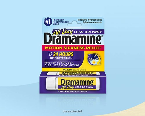 Dramamine® All Day Less Drowsy Motion Sickness Medicine